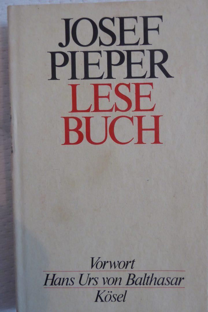 Josef Pieper Lesebuch